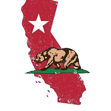 CA - California State Map by soondoock