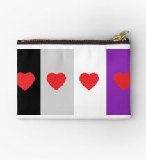 HETEROROMANTIC LOVE HEARTS ASEXUAL FLAG ASEXUAL T-SHIRT Studio Pouch