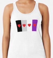 HETEROROMANTIC LOVE HEARTS ASEXUAL FLAG ASEXUAL T-SHIRT Women's Tank Top