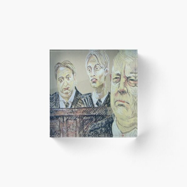 The Mucklowe's in Court Acrylic Block