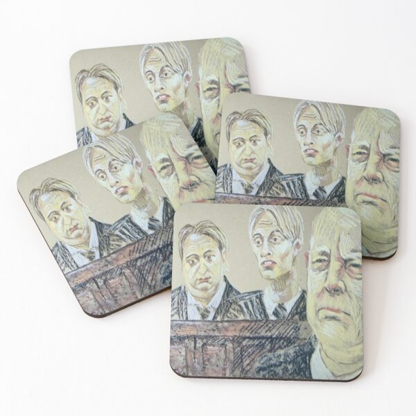 The Mucklowe's in Court Coasters (Set of 4)