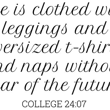 College bible verse by magdalayna
