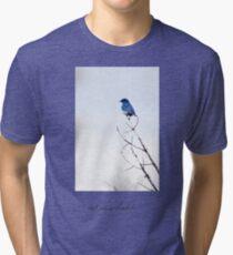 bluebird on a limb Tri-blend T-Shirt