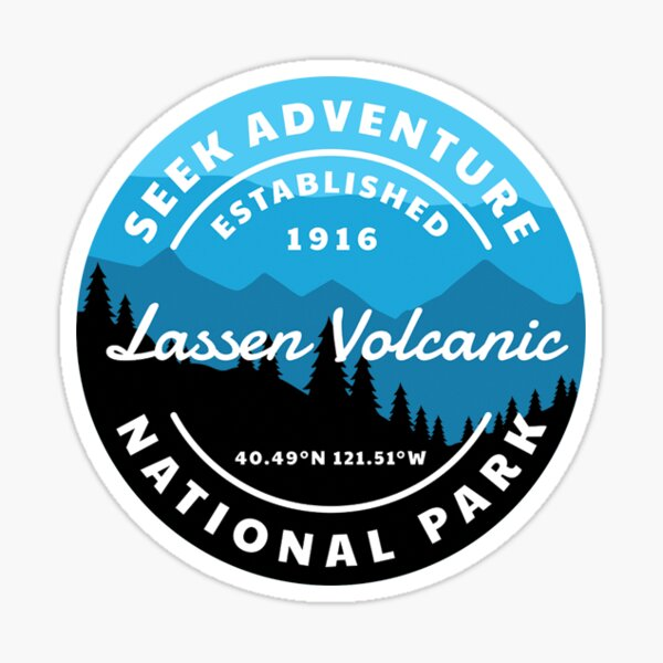 Lassen Volcanic National Park Sticker Sticker
