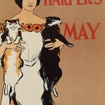 Two cats, Edward Penfield, Harper's May 1898 by aapshop