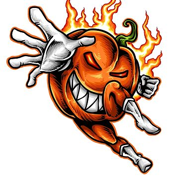 Pumplin Hero, Lack O'Lantern Monster, Pumkin Lantern Crazy Hero by manbird
