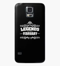 Birthday Month February Design - Legends Are Born In February Case/Skin for Samsung Galaxy
