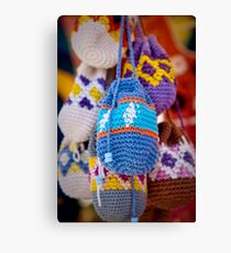 Knitted Pouches Canvas Print