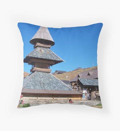 Parashar Rishi's Temple Throw Pillow