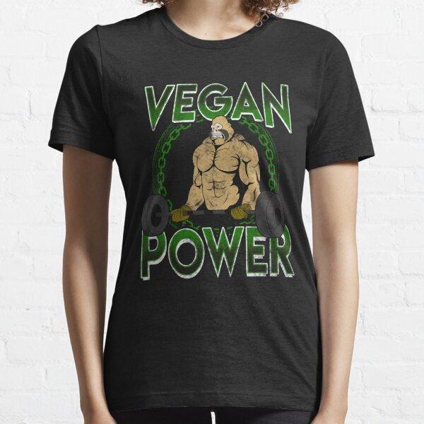 Vegan Power Weight Lifting Bodybuilding Gorilla  Essential T-Shirt