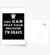 YOU CAN STAY CALM BECAUSE I'M GRACE ASEXUAL T-SHIRT Postcards