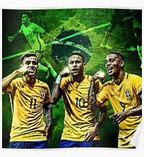 Brazil: Coutinho, Neymar & Jesus Poster