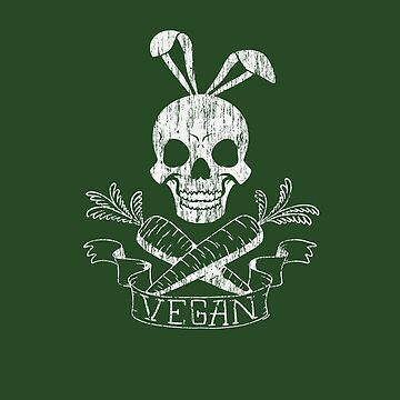 Vegan Rabbit Skull Raw Food Vegetarian Bunny Veggie by MDAM