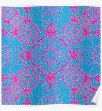 Iridium Atoms Blue Pink Poster