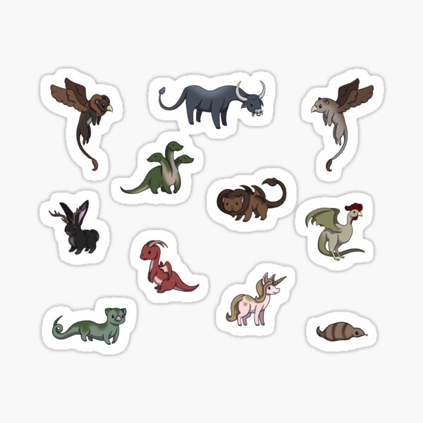 Tiny Mythical Creatures Sticker