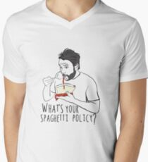 What's your spaghetti policy? Men's V-Neck T-Shirt