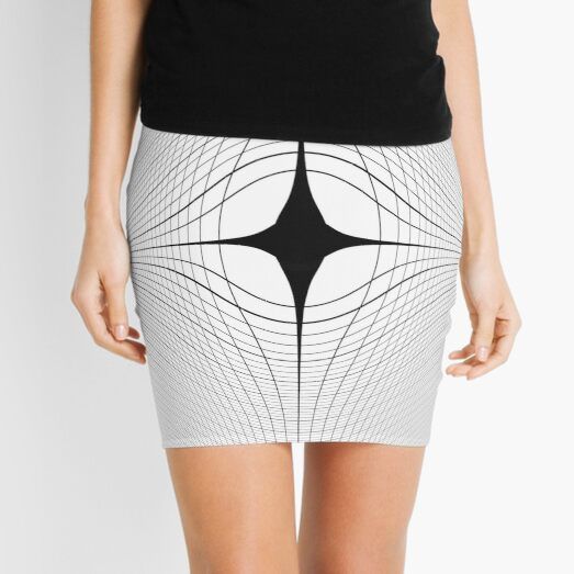 #blackandwhite #monochrome #circle #design #abstract #pattern #illustration #symmetry #vertical #photography #inarow #nopeople #decoration Mini Skirt