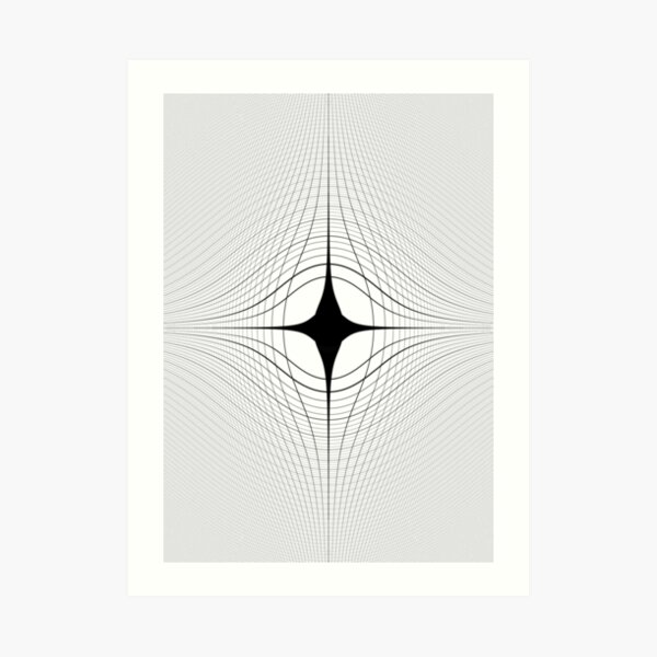 #blackandwhite #monochrome #circle #design #abstract #pattern #illustration #symmetry #vertical #photography #inarow #nopeople #decoration Art Print