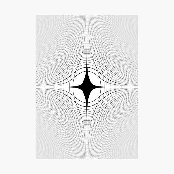 #blackandwhite #monochrome #circle #design #abstract #pattern #illustration #symmetry #vertical #photography #inarow #nopeople #decoration Photographic Print