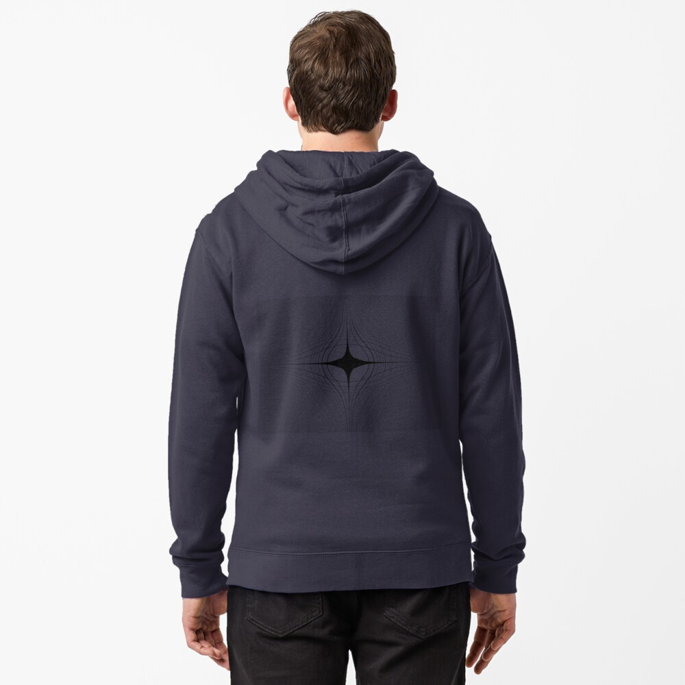 #blackandwhite #monochrome #circle #design #abstract #pattern #illustration #symmetry #vertical #photography #inarow #nopeople #decoration Zipped Hoodie