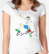 Ping Pong The Animation Print Peco Women's Fitted Scoop T-Shirt