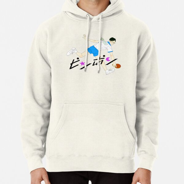 Ping Pong Smile Print Pullover Hoodie