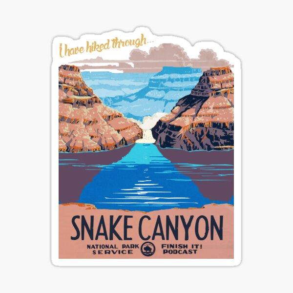 Snake Canyon Hourglass  Sticker