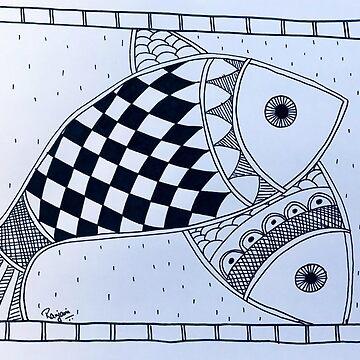 Madhubani Fish art by ranjaniart