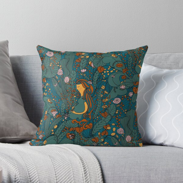Pattern #95 - Mother Nature  Throw Pillow