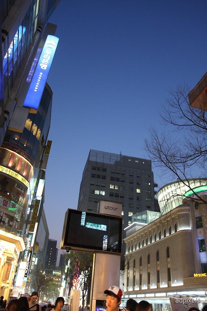 Seoul Korea - A night in Myeongdong I by adpixels