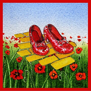 Follow The Yellow Brick Road Ruby Slippers Wizard Of Oz by IrinaSztukowski
