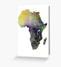Africa map 4 Greeting Card