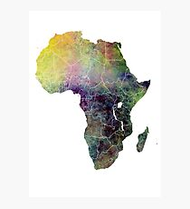 Africa map 4 Photographic Print
