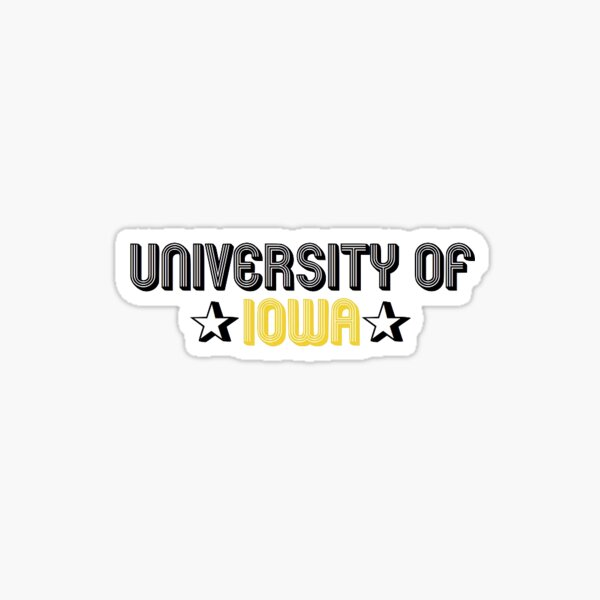 University of Iowa Sticker Sticker