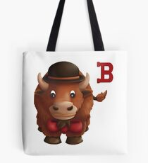 Buffalo with a Bowler Hat and a Bowtie Tote Bag