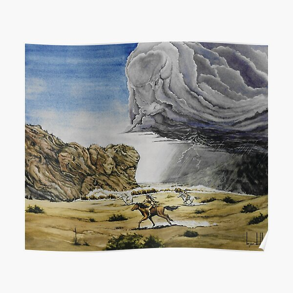Original watercolor painting celebrating the buffalo Poster