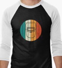 Retro Vintage Welder Mask Welding T-shirt Men's Baseball ¾ T-Shirt