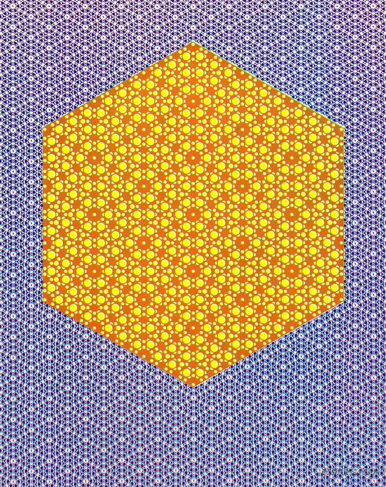 Silicon Atoms HyperCube Blue Orange by atomicshop