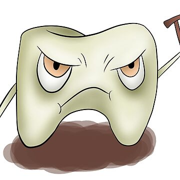Angry old tooth by Melcu
