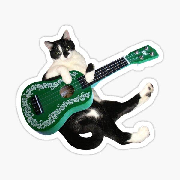 Cat with Ukulele Sticker