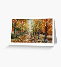 Buy Landscape Oil Painting For Sale Autumn by www.Rybakow.com Greeting Card