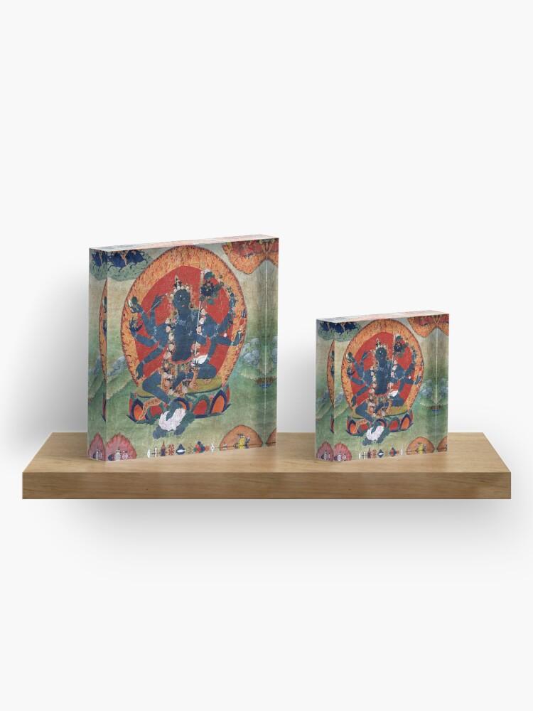 Alternate view of Green Tara Tibetan Buddhist Religious Art Acrylic Block