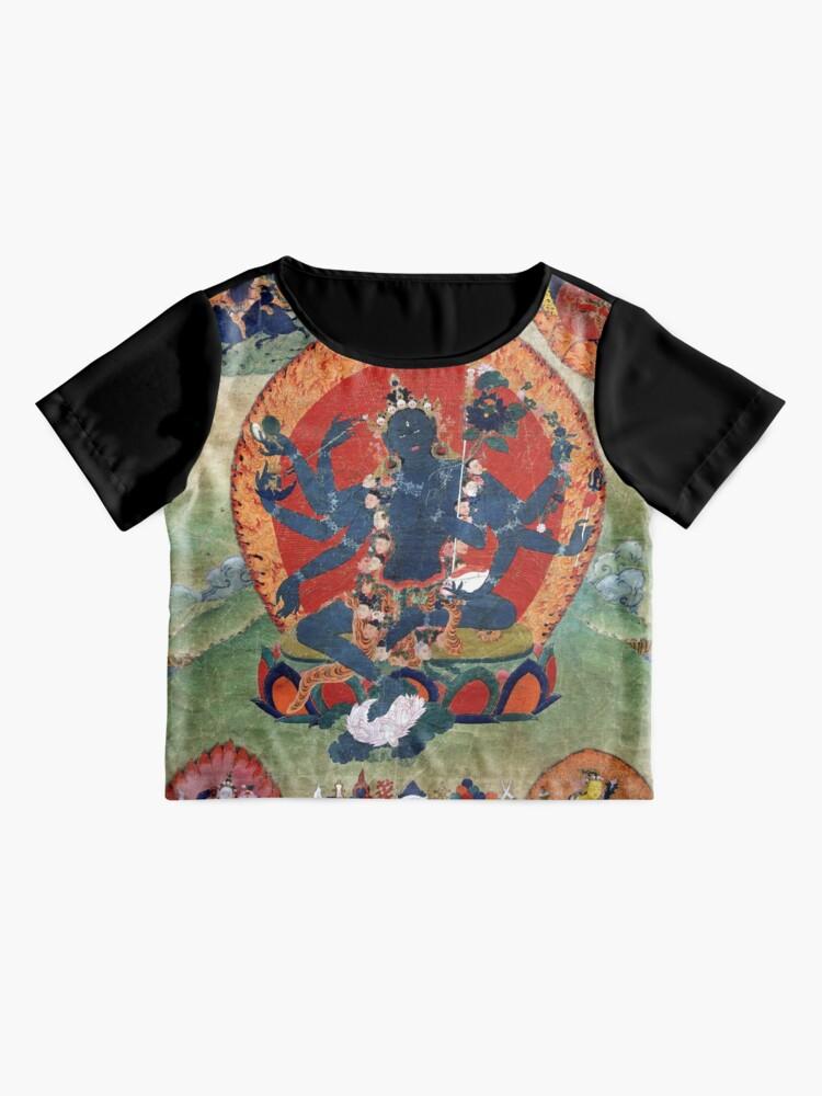 Alternate view of Green Tara Tibetan Buddhist Religious Art Chiffon Top