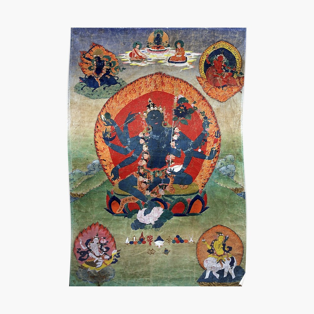 Green Tara Tibetan Buddhist Religious Art Poster