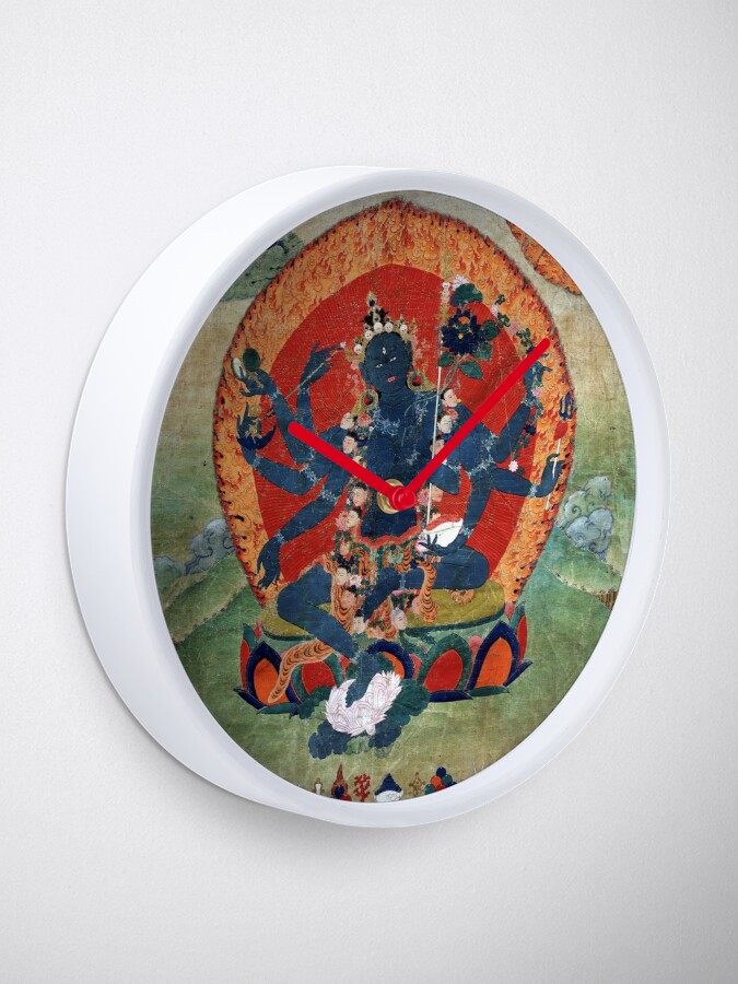 Alternate view of Green Tara Tibetan Buddhist Religious Art Clock