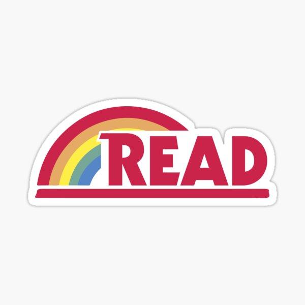 Retro Reading Rainbow Read Parody Teacher, Student, Avid Reader, Book Club, Reading, Graphic Sticker