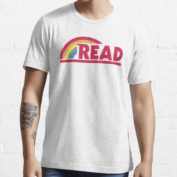 Retro Reading Rainbow Read Parody Teacher, Student, Avid Reader, Book Club, Reading, Graphic Essential T-Shirt