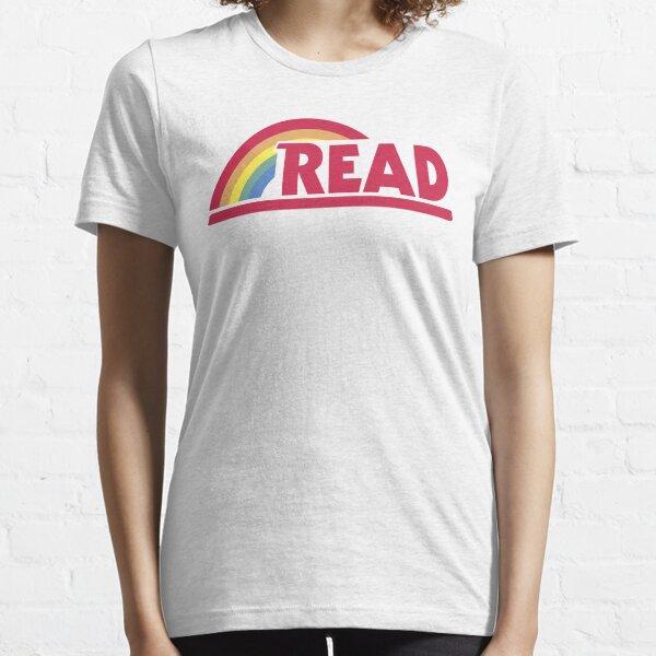 Rétro lecture Rainbow Read Professeur de parodie, étudiant, lecteur avide, club de lecture, lecture, graphique T-shirt essentiel