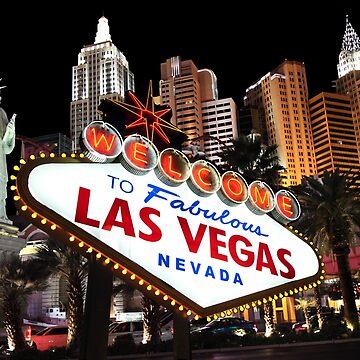Las Vegas Famous signs strip buildings skyline souvenir by peter2art