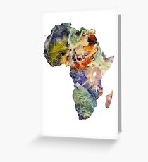 Map Africa 6 Greeting Card